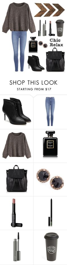 """Chic, Relax⚫️"" by jillvs ❤ liked on Polyvore featuring Paige Denim, Chanel, Superdry, Anna Sheffield, NARS Cosmetics, MAC Cosmetics, The Created Co. and WALL"