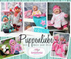 Puppenliebe ♥ 9 Schnittmuster für Puppen in 2 Größen