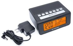 Radio Alarm Clock for the Home- Digital, Modern LED Display. Electric Wall Plug With Battery Backup. Adults, Teens & Kids of All Ages. 1-16 ...