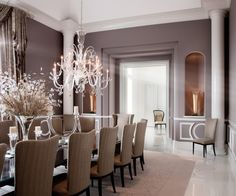 Love the purple paint color! Robert J Erdmann Design, LLC - contemporary - dining room - chicago - by Robert J Erdmann Design, LLC