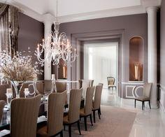 Love the purple paint color! Robert J Erdmann Design, LLC - contemporary - dining room - chicago - by Robert J Erdmann Design, LLC