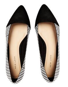 Image 3 of New Look Lebra Striped Flat Shoes