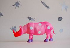 polka dot rhino//the strange planet by thegoodmachinery on Etsy, $69.00