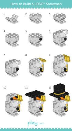 LEGO How-to Build: Snowman, Christmas Tree, Santa Claus • Pley Blog