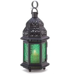Gifts Decor Green Glass Moroccan Candle Holder Hanging Lantern ❤ liked on Polyvore featuring home, home decor, candles & candleholders and green glass candle holders
