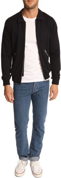 Our Legacy Navy Pocket Zipped Cardigan in Blue for Men (navy) - Lyst