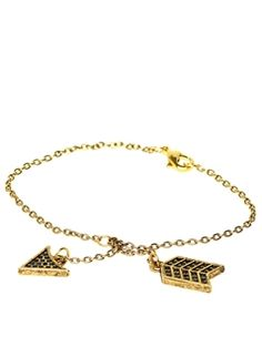House of Harlow 1960 'Gold Plated Black Pave Arrow Bracelet'