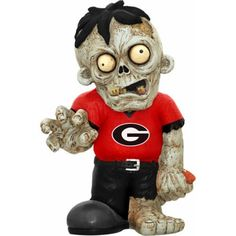 Forever Collectibles Ncaa Resin Zombie Figurine, University of Georgia Bulldogs, Red