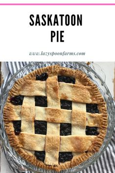 Here is a classic Saskatoon Pie recipe. Saskatoon berries are bountiful on the prairies. This nutty but sweet berry is delicious in a pie topped with vanilla ice cream for dessert. Pie Recipes, Dessert Recipes, Desserts, Recipies, Saskatoon Berry Recipe, Canadian Food, Canadian Recipes, Pastry Crust Recipe, Gluten Free Treats