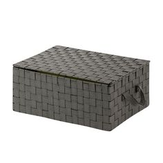 Honey-Can-Do Woven Storage Box, Black