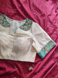White Blouse Designs, Silk Saree Blouse Designs, Bridal Blouse Designs, Blouse Neck Designs, Latest Blouse Designs, Silk Sarees, Seda Sari, Blouse Designs Catalogue, Stylish Blouse Design