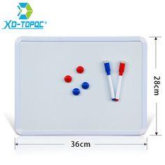 XINDI 새로운 28*36 센치메터 자기 화이트 보드 PVC 프레임 Magnetica 보드 냉장고 홈 장식 메시지 보드 노트 WB01