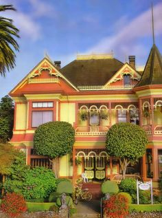 The Gingerbread Mansion B in the Victorian town of Ferndale, California -- 25 miles South of Eureka, California!
