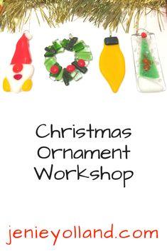 During November we run workshops where you can make cute Christmas Tree ornaments like these.
