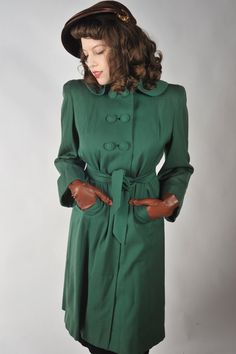 48Hour Sale  Vintage 1940s Coat // The Lucky Lass Rich by FabGabs, $156.00