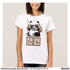 d7384a6d Chemistry panda discovered cute T-Shirt Aztec T Shirts, Ugly Cat, Rock  Shirts