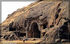 Bhaja Caves or Bhaje caves is a group of 22 rock-cut caves dating back to the 2nd century BC located in Pune, near Lonavala, Maharashtra. The caves are 400 feet above the village of Bhaja, on an important ancient trade route running from the Arabian Sea eastward into the Deccan Plateau (the division between North India and South India). It belongs to the Hinayana Buddhism sect in Maharashtra. The caves have a number of stupas, one of their significant features.