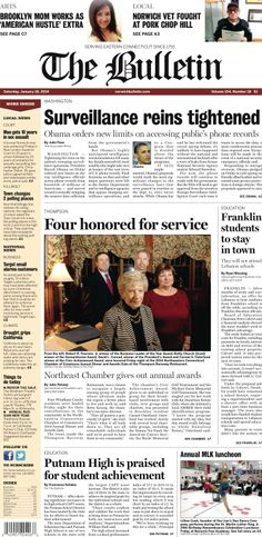 Saturday, January 18, 2014 - Subscribe to The Bulletin today: http://www.norwichbulletin.com/subscribenow #ctnews #newlondoncounty #windhamcounty