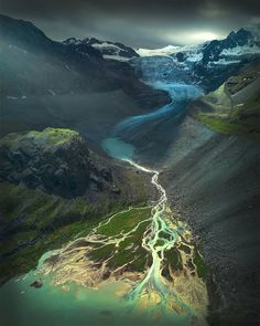 A glacier somewhere in the Swiss Mountains.