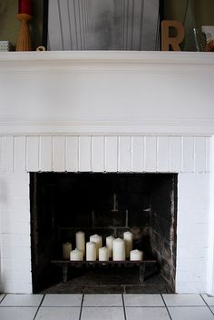 Fireplace Candles by shutterlylovely, via Flickr