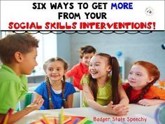 Six Ways to See Progress From Social Skills Interventions! Social Skills Activities, Teaching Social Skills, Vocabulary Activities, Speech Therapy Activities, Emotion Words, Social Anxiety Disorder, Emotional Regulation, Communication Skills, Speech And Language