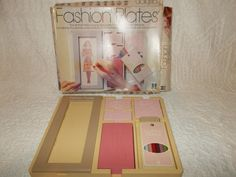 Vintage 1978 Tomy Fashion Plates Set 99% Complete In Box  #TOMY