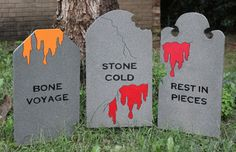 Set of 6 Gray #Halloween #Tombstones by DadandSonsWW on Etsy https://www.etsy.com/listing/107779842/set-of-6-gray-halloween-tombstones?ref=shop_home_active_20