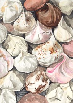 Meringues French Cookies Macarons ORIGINAL Watercolor Painting 5 x 7 Paris Patisserie - FREE Shipping. $15.00, via Etsy.