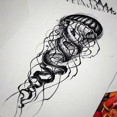 Тату эскиз - Медуза
