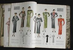 1935 Art Deco McCall Printed Patterns Complete Catalogue Catalog Dresses more
