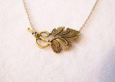 elven leaf necklace
