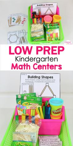 Low Prep Kindergarten Math Centers: Hands-on activities to teach all common core standards for math in fun ways! Plus, helpful tips to organize your classroom!