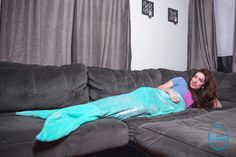 MAID TO DREAM Mermaid Tail Blanket For Adults and Kids.