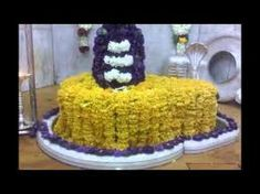 shiv ling with flowers Om Namah Shivaya, Projects To Try, Cake, Flowers, Desserts, Food, Tailgate Desserts, Deserts, Kuchen