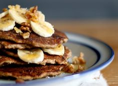 "Gluten Free Banana Bread Pancakes from ""My New Roots"". #glutenfree"