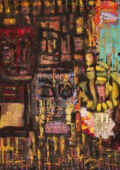 """Keith Richards"" Acrilico su tela (Tecnica mista) 70x50"