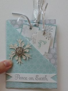 Double pocket card with tags