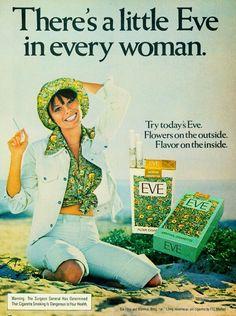 Eve cigarette vintage poster ad