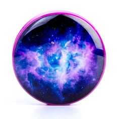 $15.00 - Galaxy - Plug | UK Custom Plugs - Gauges, Flesh Tunnels for Stretched Ears & Clothing
