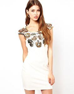 Image 1 ofLipsy Sequin Flower Embellished Dress