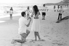 beach proposal... this is so beautiful <3