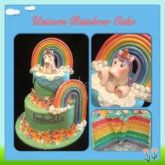 Unicorn & Rainbow Cake Art