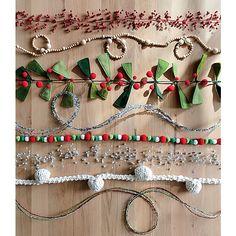 Red Jingle Bells Garland - Image 3 of 8 Scandinavian Christmas Ornaments, Diy Christmas Garland, Christmas Wood, Christmas Tree Toppers, Christmas Crafts, Xmas, Yule Crafts, Scandinavian Holidays, Christmas Trimmings