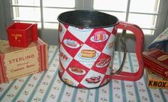 SALE  Vintage 1950s Androck flour sifter sifter by BlueSkyLane