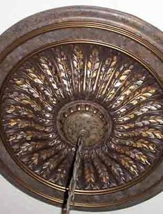 Ceiling medallion finished in various metallic colors from the Modern Masters Metallic Paint Collection - Garay Artisans