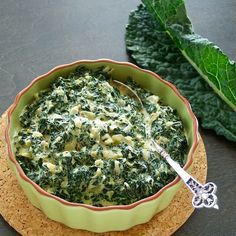 Creamed kale...switch out the heavy cream for coconut milk to make it paleo