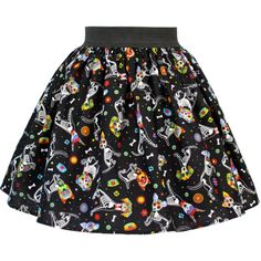 Inked Boutique - Day of the Dead Dog Pleated Skirt  Rockabilly Latina www.inkedboutique.com