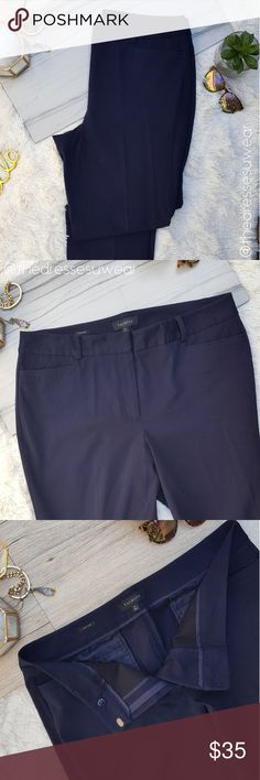 Talbots Heritage Navy Trousers  Dress Pants Euc 16 Talbots classy and classic navy heritage pants. These staple career wear pants will have you dressing for success! You won't regrets buying these they are classic navy work pants you can go to the office looking stylish and put together. Talbots Pants Trousers