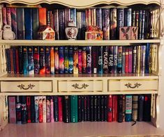 Most of my longer series... not even a fraction of my library though. Just the most aesthetic part. #shelfie