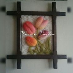 Tulipanes de fieltro
